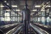 The Commuter statue by John McKenna — Stockfoto