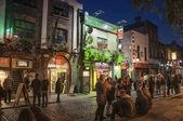 Temple Bar in Dublin at night — Stock Photo