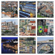Set of photos - Historical center of Porto, Portugal — Stock Photo #65194075