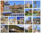 Set of Andalusian landmarks — Stock Photo