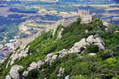 Aerial view of Castle of the Moors in Sintra — Stock Photo