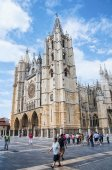 Cathedral of Leon, Spain — Stock Photo