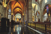 Cathedral of Valencia interiors — Stock Photo