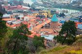 Aerial view of old Tbilisi capital Georgia — Stock Photo