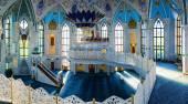 Interiors of famous Qol Sharif Mosque in Kazan, Russia — Stock Photo