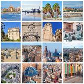 Set of photos - Valencia landmarks, Spain — Stock Photo