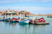 Fishing boats in Rabat, Morocco — Stock Photo