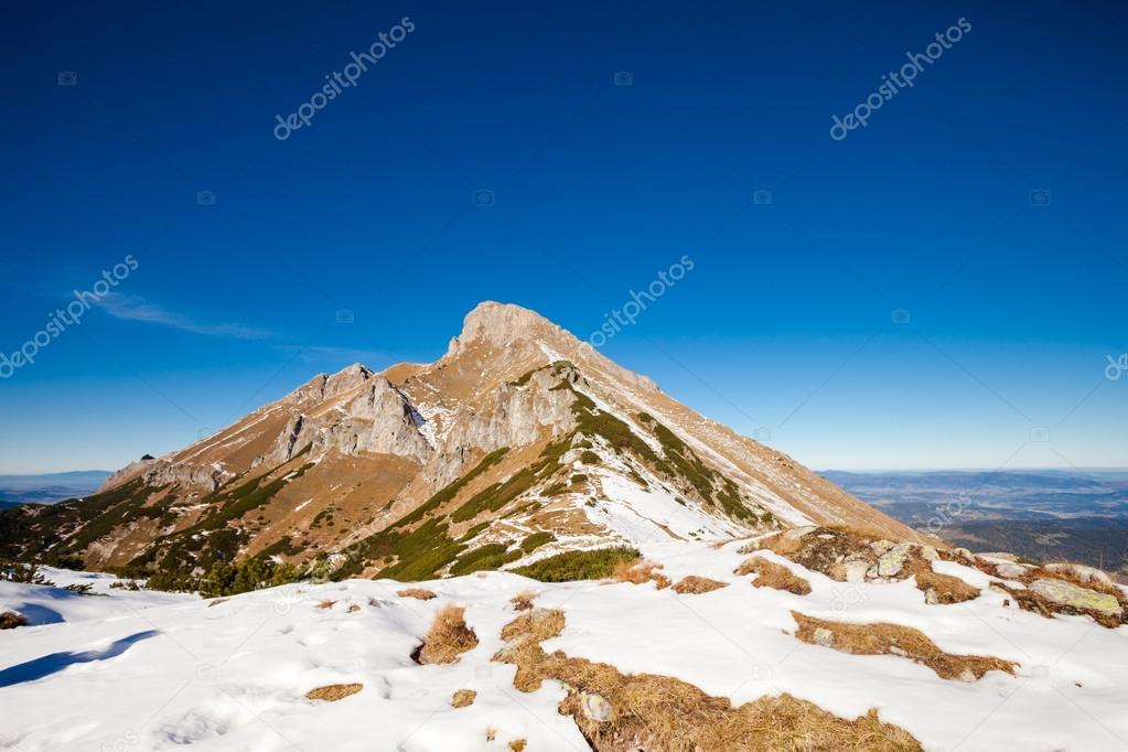 Slovakian Belianske Tatry mountains landscape Stock