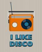 Retro disco poster — Stock Vector