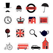 Set of british icons — Stock Vector