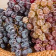 Two different types of grapes on tray — Stock Photo #56487235