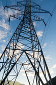 Electrical transmission tower with wires — Stock Photo