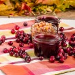 Cranberry sauce with cranberries and apple relish — Stock Photo #59414253