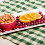 Cranberry apple relish with orange slices — Stock Photo #59500941