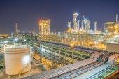 Twilight of Refineryl Plant — Stock Photo