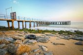 Jetty with sea , HDR Style — Stock Photo