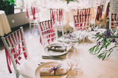 Wedding table appointments — Stock Photo