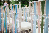 Chairs from wedding ceremony — Stok fotoğraf
