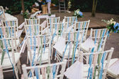 Chairs from wedding ceremony — Stock Photo