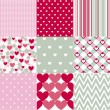 Seamless patterns Valentines Day — Stock Vector #62792909