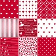 Seamless patterns Valentines Day — Stock Vector #62808105