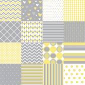 シームレス パターン - デジタル スクラップ ブック — ストックベクタ