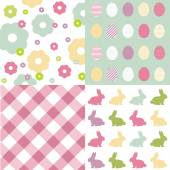 Happy Easter set — Stock Vector