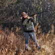 Female duck hunter — Stock Photo #57108037