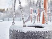 Snowy playground — Stock Photo