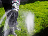 Take care of the lawn — Stock Photo
