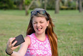 Girl selfie — Stock Photo