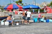 Naples fisherrmen — Stock Photo