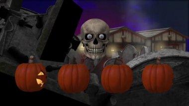 Halloween atmosphere — Stock Video