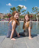 Two girl in Amsterdam — Stock Photo