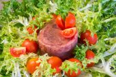 Meat aspic salad on endive — Stock Photo