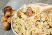 Risotto with porcini mushrooms — Stock Photo