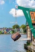 Windmill amsterdam — Stock Photo
