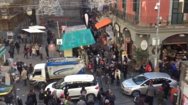Tribunali street in Naples-  Italy — Stock Video