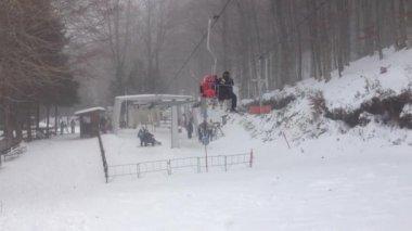 Ski resort snow southern Italy — Stock Video