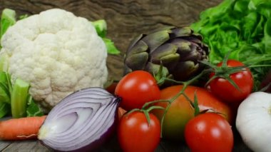 Vegetables panoramic — Stock Video