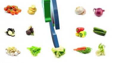 Biological food vegetables — Stock Video