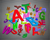 Smooth alphabet — Stock Photo