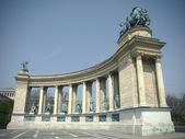 Budapest, Hungary. Heroes' Square — Stock Photo