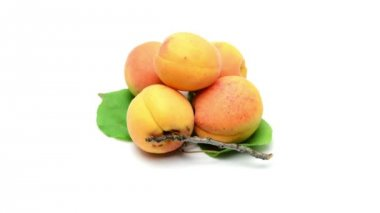 Peach on white background — Stock Video
