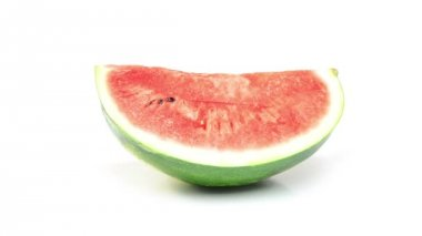 Watermelon on white background — Stock Video
