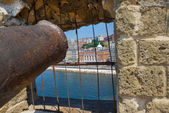 Naples, cannons of Castel dell'Ovo - Italy — Stock Photo