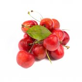 Cherries on white — Stock Photo