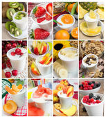Mix of yogurt — Stock Photo