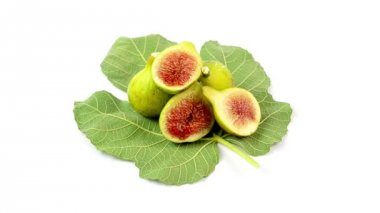 Figs on white background — Stock Video