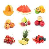 Fruits on white background — Stock Photo
